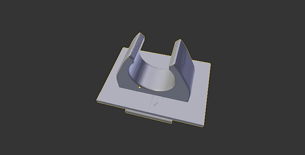 belt clip for white cane 3D Print 144646