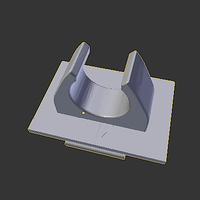 Small belt clip for white cane 3D Printing 144646