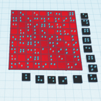 Small braille sudoku 3D Printing 144687