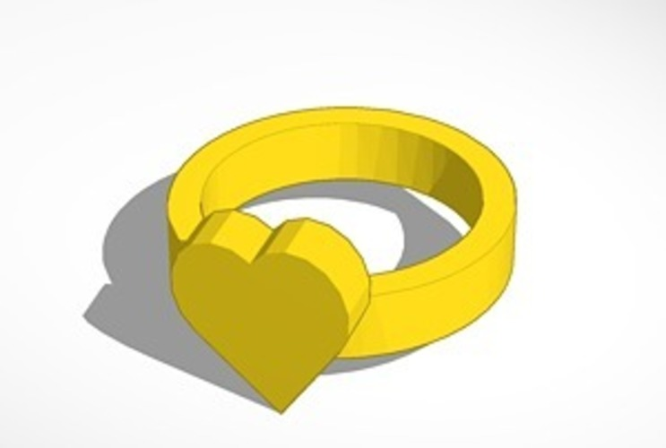 heart ring size 20x20 mm 3D Print 14478