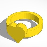 Small heart ring size 20x20 mm 3D Printing 14478