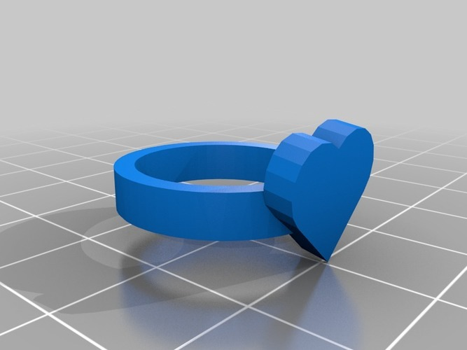 heart ring size 20x20 mm 3D Print 14479