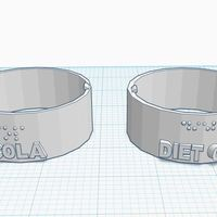 Small Soda Can Labeler (Coca Cola) 3D Printing 144797