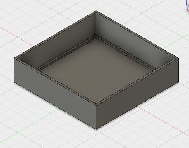 Simple square nesting tray 3D Print 144855