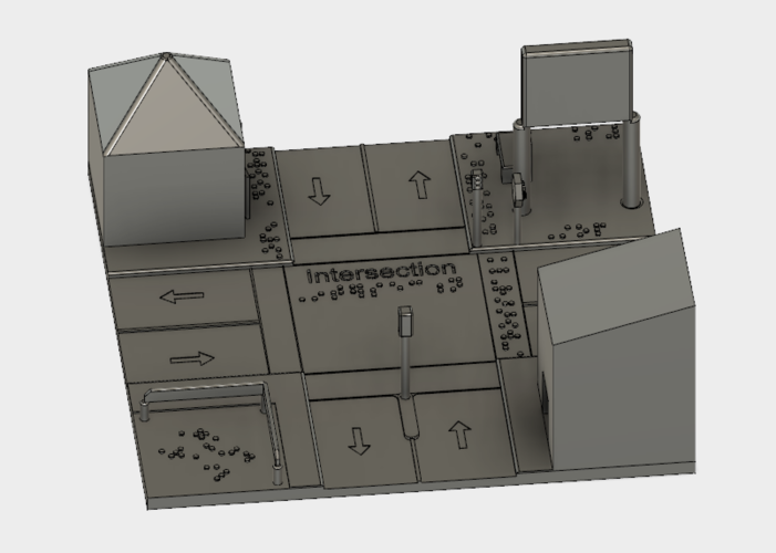 Model of an intersection for the blind 3D Print 144863