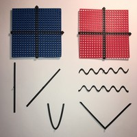 Small Graphing Tool (Coordinate Plane with Functions)  3D Printing 144896