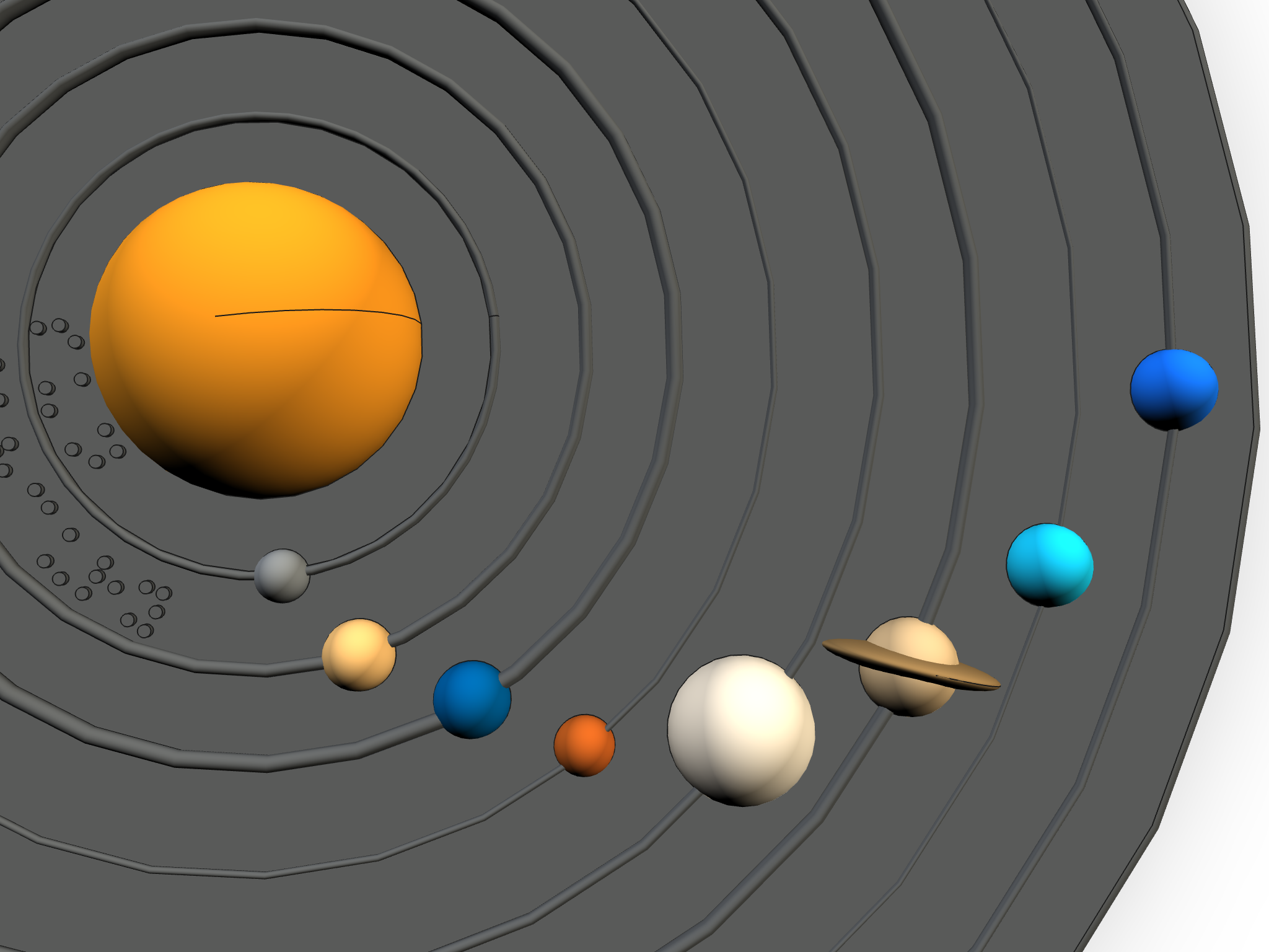 Images of solar system model
