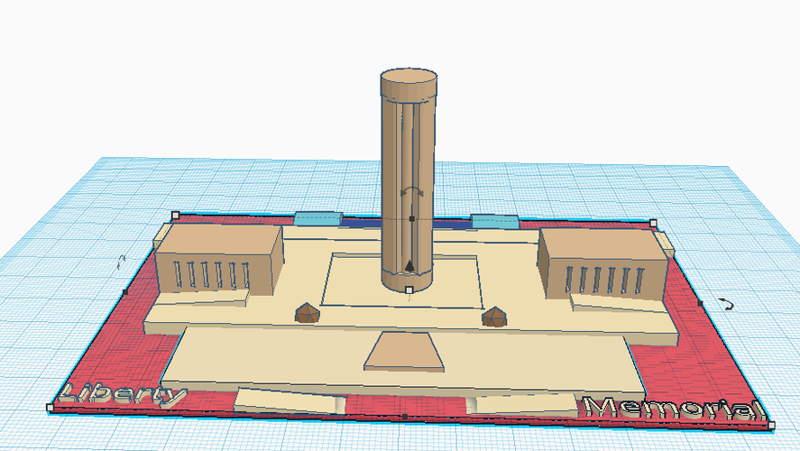 World War I Liberty Memorial  3D Print 145003