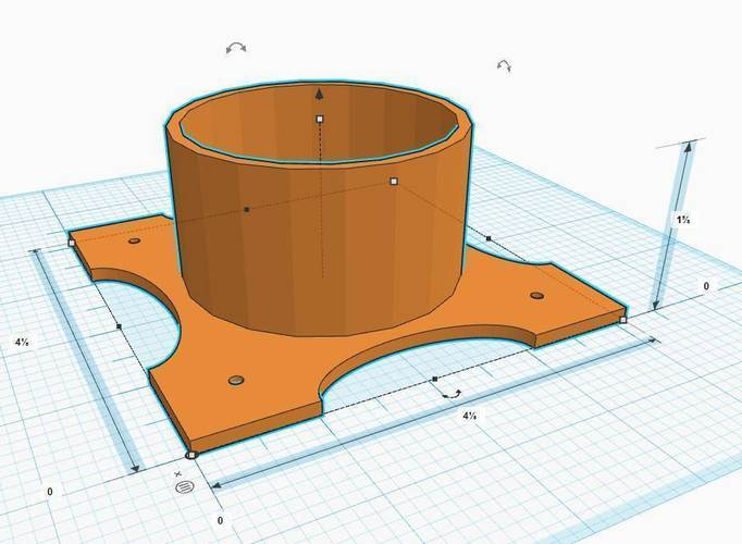 Tabletop Cup Holder Design 2 3D Print 145122