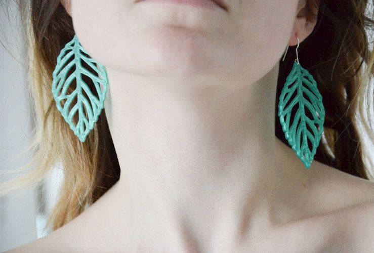 leaves earrings 3D Print 145176