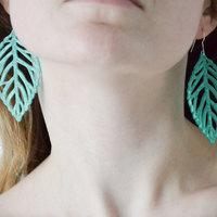 Small  leaves earrings 3D Printing 145176