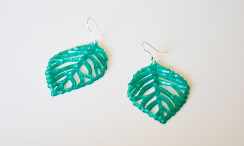 leaves earrings 3D Print 145177
