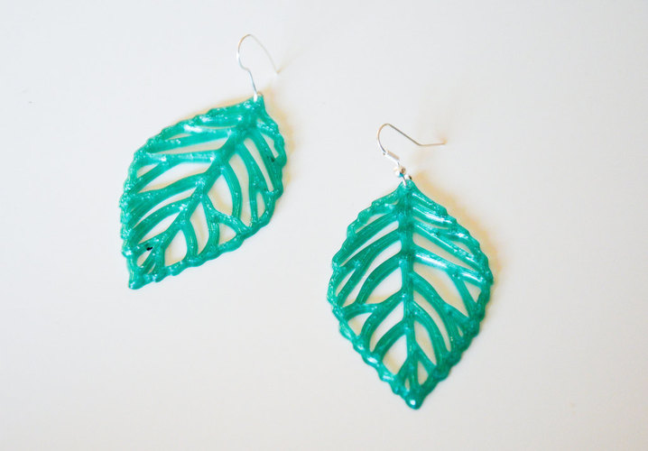 leaves earrings 3D Print 145178