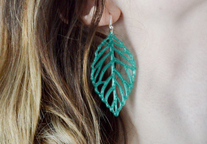 leaves earrings 3D Print 145180