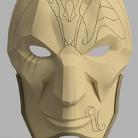 Small Jhin Mask (League of Legends) 3D Printing 145256