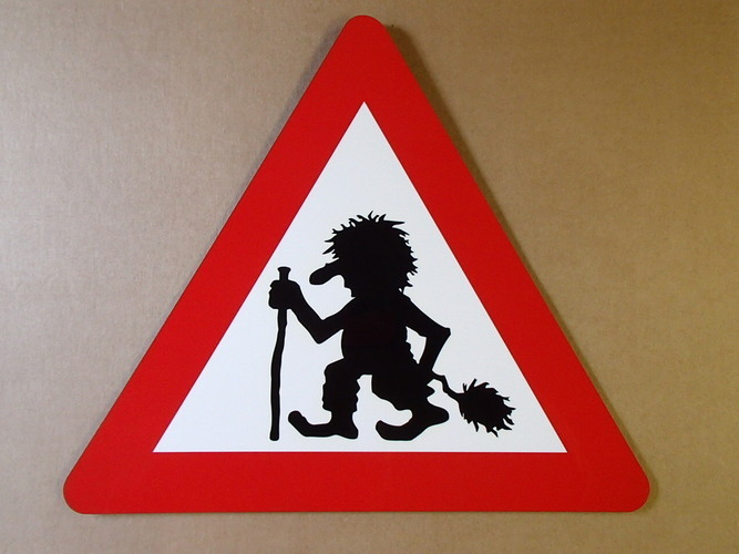 Troll Crossing Sign 3D Print 145265