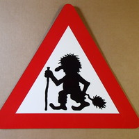 Small Troll Crossing Sign 3D Printing 145265