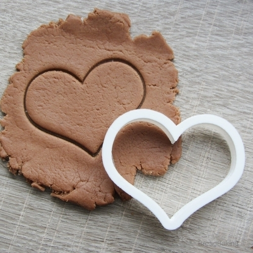 Small heart cookie cutter for professional  3D Print 145316