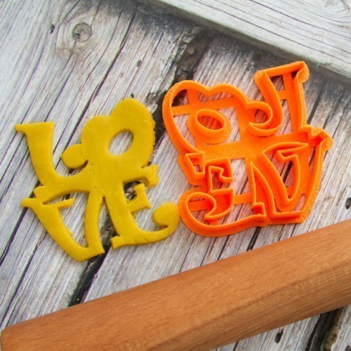 Stamp Love 2 cookie cutter for professional  3D Print 145335
