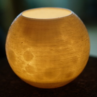 Small Moon candle pot 3D Printing 145349