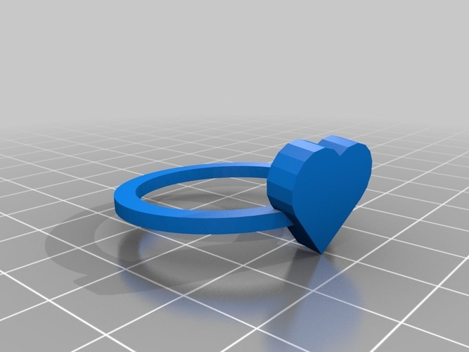 heart ring size 11 = 26x26 mm 3D Print 14542