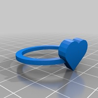 Small heart ring size 11 = 26x26 mm 3D Printing 14542