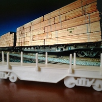 Small cargo train 3D Printing 145438