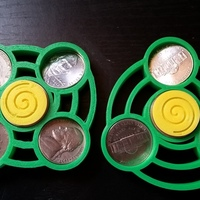Small Fidget Spinners-- Unstable/Stable Hurricanes 3D Printing 145502