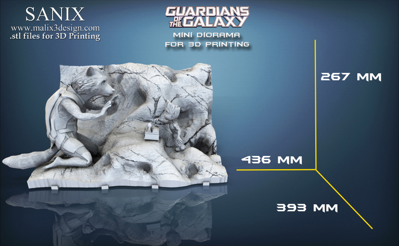 Guardians of the Galaxy  ,, Rocket and Baby Groot ,,  3D Print 145586