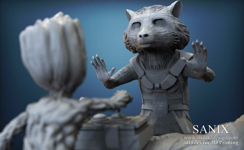 Guardians of the Galaxy  ,, Rocket and Baby Groot ,,  3D Print 145592
