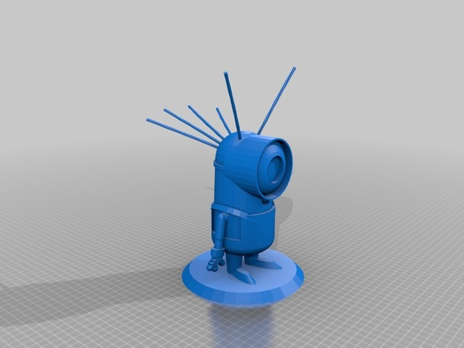 Minion with hair 1  3D Print 14563