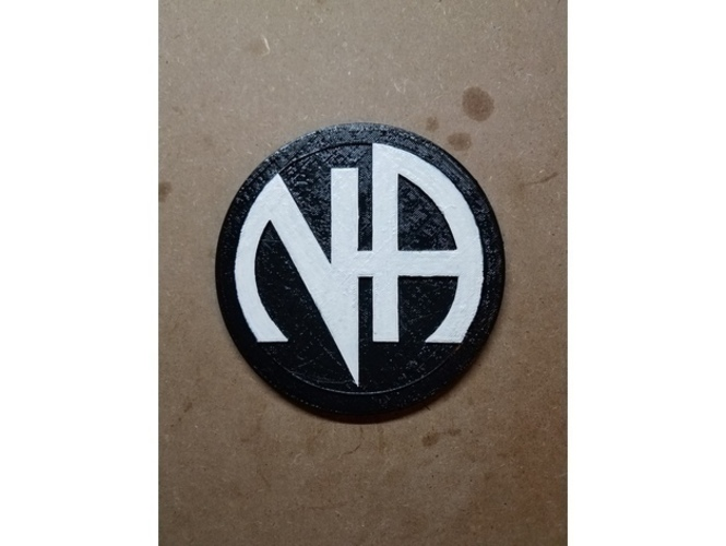 NA Logo (Narcotics Anonymous) 3D Print 145654