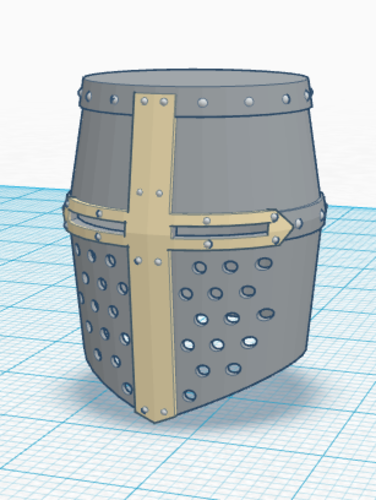 Simple Crusader Helmet 3D Print 145674
