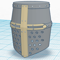 Small Simple Crusader Helmet 3D Printing 145674