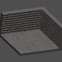Small Dungeons Series - Corner Dungeon Part by the Hatchery 3D Printing 145676