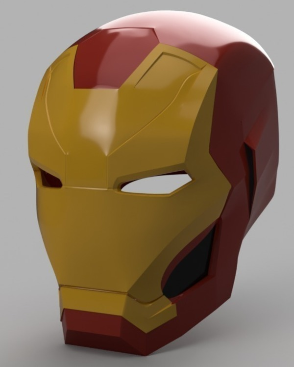 Medium Iron Man Mark 46 Helmet (Captain America Civil War) 3D Printing 145687