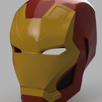 Small Iron Man Mark 46 Helmet (Captain America Civil War) 3D Printing 145687
