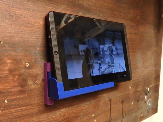 Tablet / Smartphone Moving Wall Holder 3D Print 145831