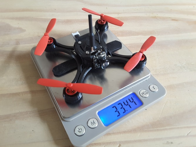 Micro Quad fpv Racer 100mm Brushless 1S  0703  20.000kv 3D Print 145835