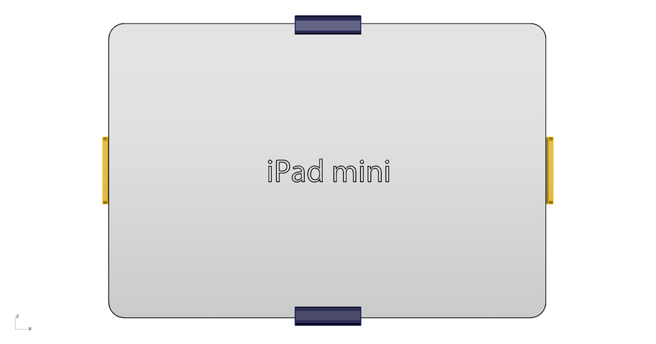 iPad mini VOLVO holder 3D Print 145839