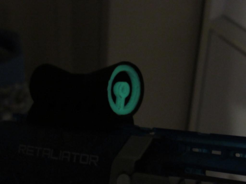 3D Printed Glow in the Dark Nerf Gun Scope Reticle Sight by KTZLOCK |  Pinshape