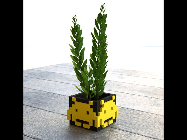 Medium Space Invader Planter 3D Printing 145862