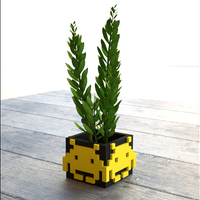 Small Space Invader Planter 3D Printing 145862