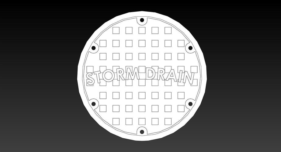 100mm ManHole Cover Coins 3D Print 145869