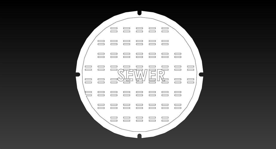 100mm ManHole Cover Coins 3D Print 145878