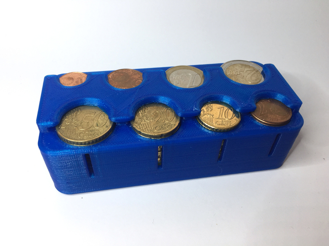 Euro Coin Dispenser for shopping 3D Print 145900