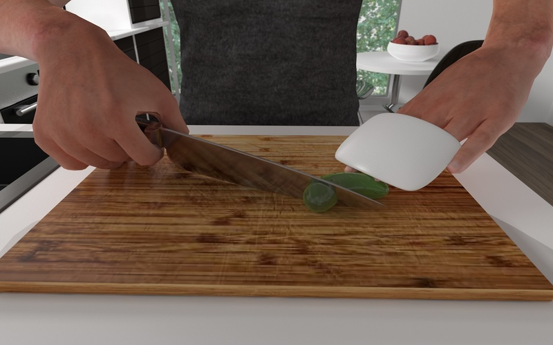 visually impaired kitchen knife hand protectors 3D Print 145944