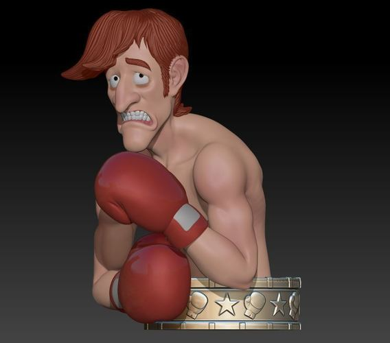 "Glass Joe  ""Punch Out"" 3D Print 145968"