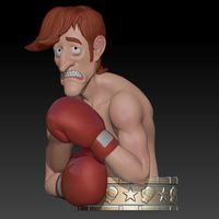 "Small Glass Joe  ""Punch Out"" 3D Printing 145968"