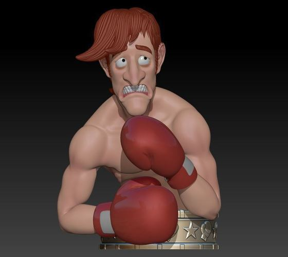 "Glass Joe  ""Punch Out"" 3D Print 145973"